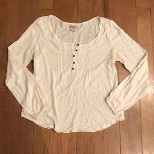 Lucky Brand medium cream long sleev